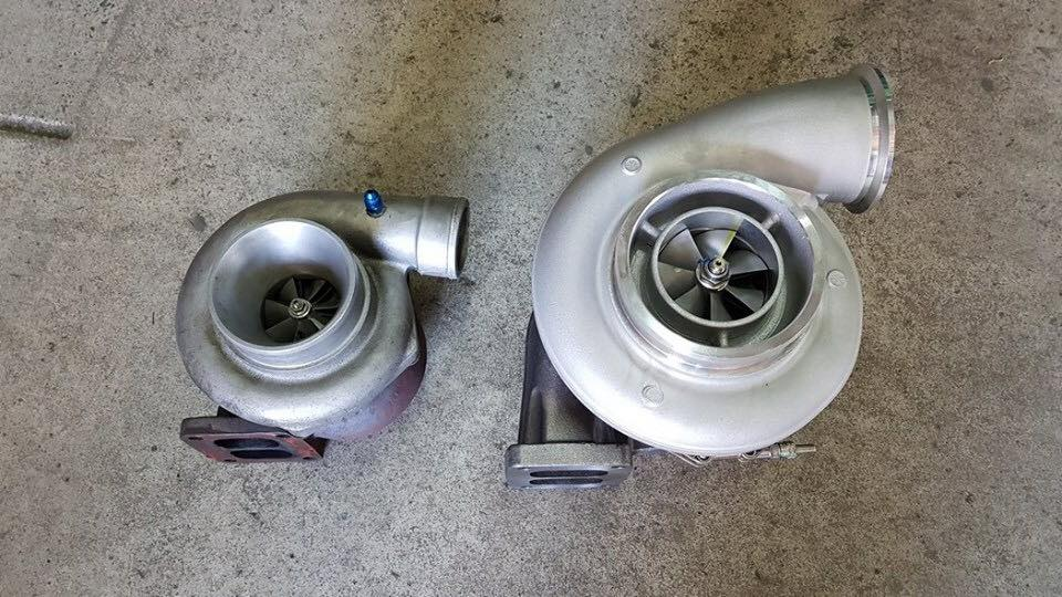 2 different size turbos